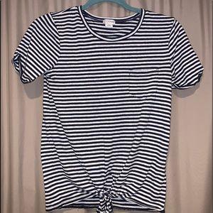 J crew tie front t shirt